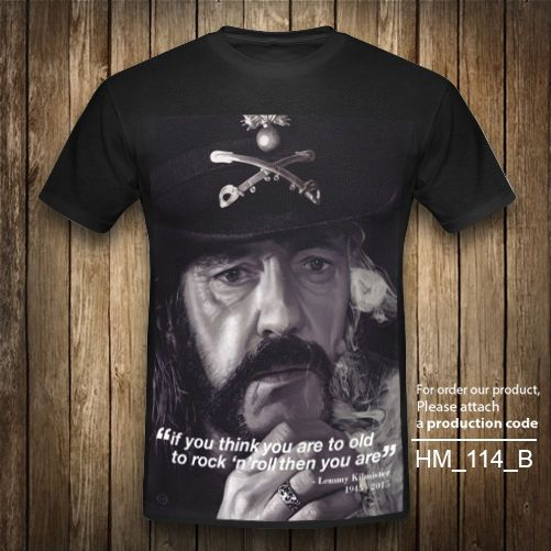 LEMMY IAN MOTORHEAD Quote T-Shirt Heavy Metal Vintage Retro Rock Black XS-2XL #Unbranded #GraphicTee