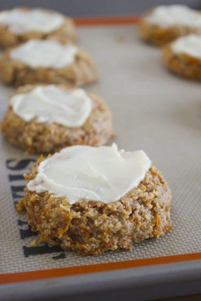 Paleo Carrot Cake Cookies by Lauren Zembron Who wouldn't want to eat paleo desserts???? Sooooo healthy and sooooo yummy!!!!!!