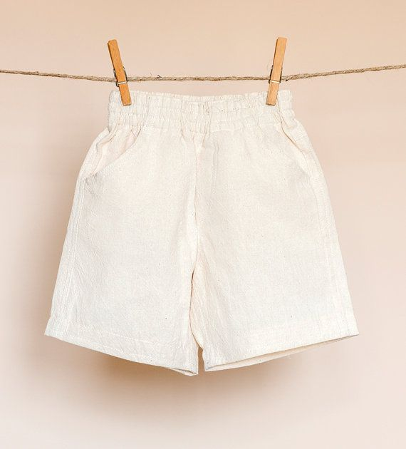 Shorts of linen for baby boys or baby girls by TheElfShopDesigns