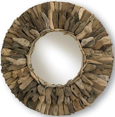 33 inch Leeward Round Driftwood Mirror