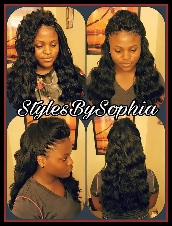 #SlayedBySophia #CrochetBraids I USED 4 PACKS OF OCEAN WAVE BY KIMA CUT N LAYERS 4 THIS CROCHET BRAIDS INSTALL. BRAID PATTERN IS ABOUT 18 BRAIDS GOING STRAIGHT BACK N D FRONT CONNECTING TO 7 BRAIDS GOING VERTICAL N D BACK. FOR MORE CROCHET STYLES VISIT MY HAIR PAGE AT STYLES-BY-SOPHIA https://www.facebook.com/SiasNoble/