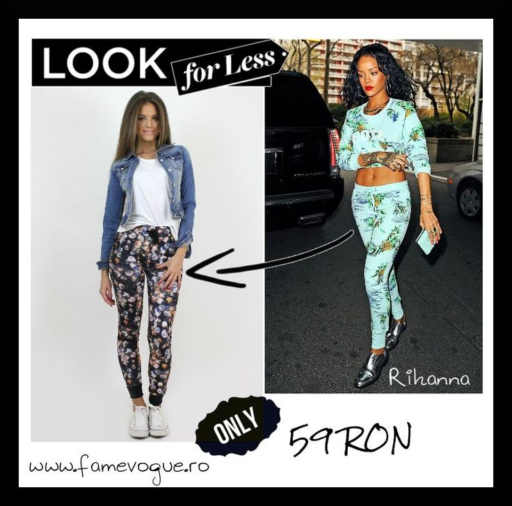 Sport the coolest #floral print #sweatpants from www.famevogue.ro. A trend promoted also by Rihanna...:)  #trend #outfit #street #rihanna #style #fashion