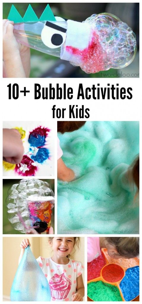 A collection of fun bubble activities for kids that will have your littles giggling in no time! Includes sensory play, art, science, and more from Twodaloo.