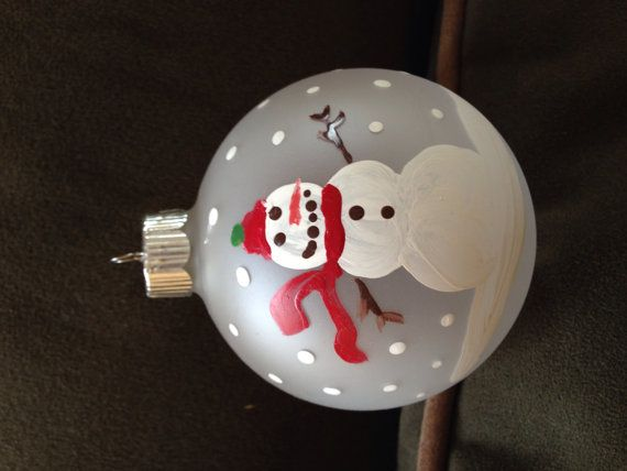 Hand painted Christmas ornament on Etsy,