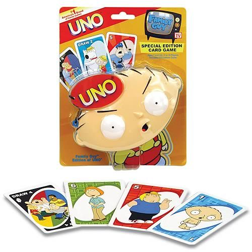 Table decorations: HaHa Family Guy UNO :D #game