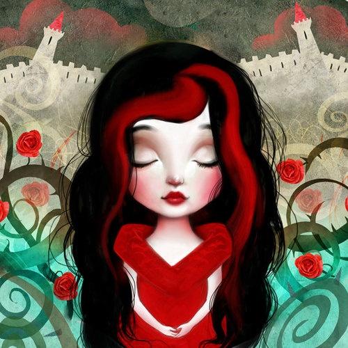 Sleeping Beauty Fairytail beauties series by Lisa Falzon