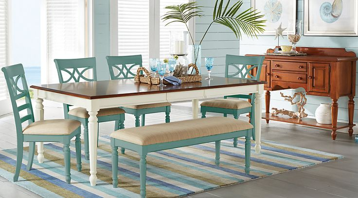 Cindy Crawford Home Ocean Grove White 5 Pc Rectangle Dining Room from  Furniture