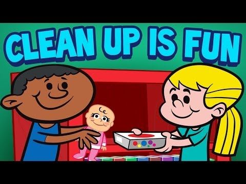 ▶ Clean Up is Fun - Children's Cleaning Song - Kids Songs by The Learning Station - YouTube