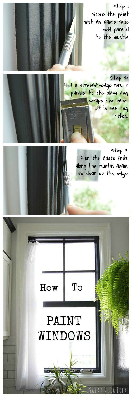 How to Paint Windows, from http://www.sarahsbigidea.com/2014/06/window-painting-101-and-102/