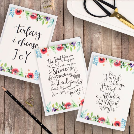 Floral Faith Encouragement Cards - Christian Cards - Pack of A6 cards - Card Sets - Friendship Cards