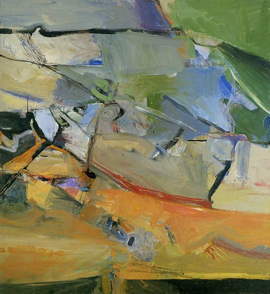 Richard Diebenkorn, Berkely No 38. Richard Diebenkorn (1922 – 1993) was a American painter. His early work is associated with Abstract expressionism and the Bay Area Figurative Movement of the 1950s and 1960s. His later work (best known as the Ocean Park paintings) were instrumental to his achievement of worldwide acclaim. (Wikipedia)