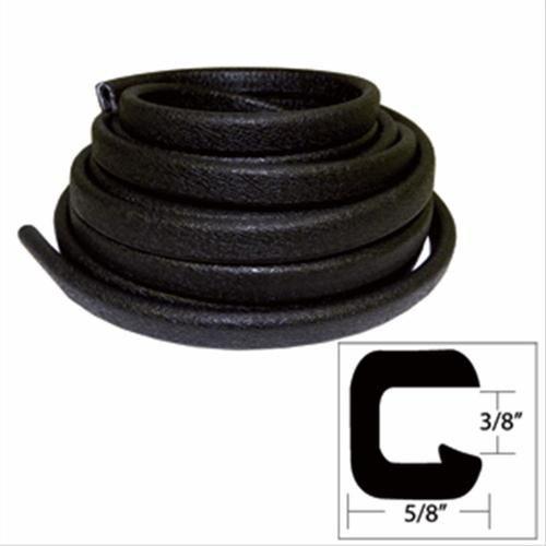 TACO Flexible Vinyl Trim - Opening x W x 25L - Black - V30-1312B25-1