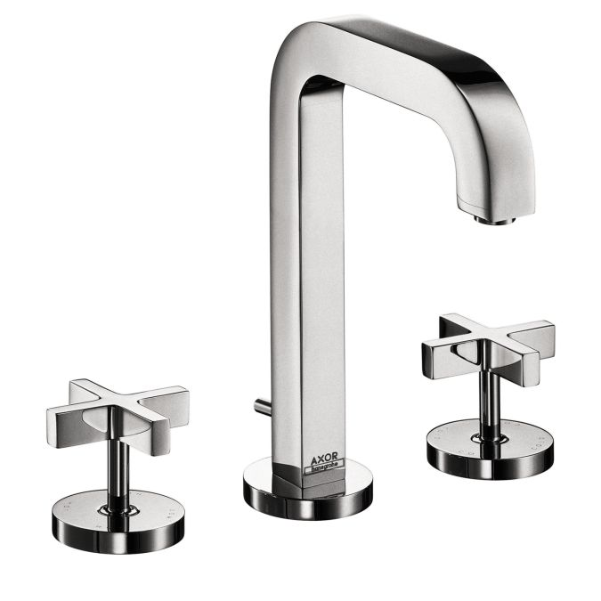 Photo Image Axor Citterio Widespread Faucet with Cross Handles hansgrohe