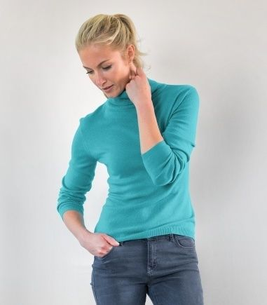 Cashmere Polo Neck   Ladies   Women's roll neck jumper   Wool Overs