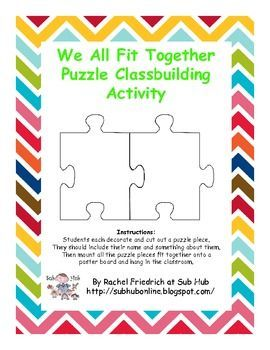 Free! We All Fit Together Classbuilding Activity. sububonline.blogspot.com