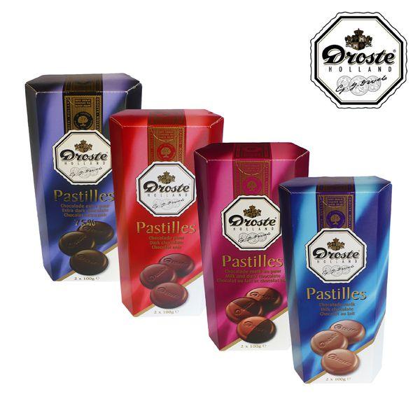 Deliziose pastiglie in diverse combinazioni di cioccolato. Conf. 2xgr.100 a soli € 1,29!!