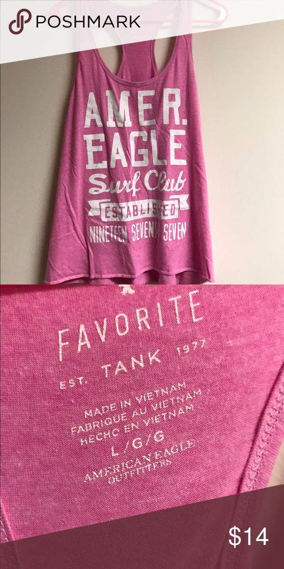 American Eagle Favorite Tank Racerback Large Pink Great condition. No holes, no stains, no flaws of any kind. Check my other items for bundles to save on shipping! Comes from a smoke-free home. I ship all items within 24 hours! American Eagle Outfitters Tops Tank Tops