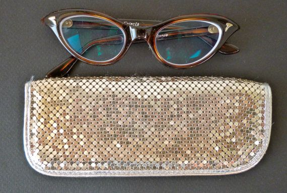 Vintage glasses case/ Whiting and Davis/ sun glasses case / silver/ micromesh/ Glomesh/ Oroton on Etsy, $43.81 AUD