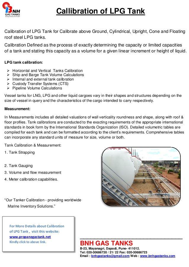 Callibration of lpg tank by BNH Gas Tanks via slideshare