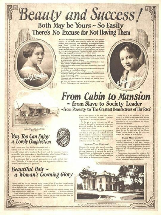 Madam CJ Walker was a Black entrepreneur and the first American self-made female millionaire. Her story of #success is that of from cabin to mansion, and from poverty and society leader. #blackhistory #blackleaders