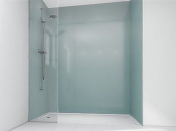 Beautiful Image Of Dove Grey Glass Panel For Shower