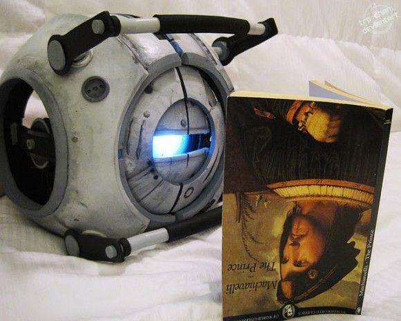 Portal 2 GuyCrafts Ideas, Handmade Wheatley, Geeky Things, Wheatley Puppets, Portal Fun, Furin Cosplay, Portal 2, Evil Eye, Portal Stuff