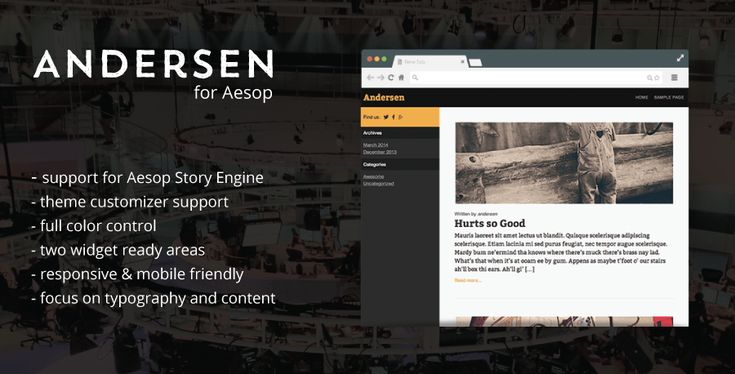 Anderson template for WP Aesop Story Engine
