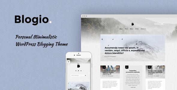 Blogio - Mini Personal WordPress Blog Theme