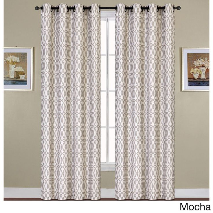 United Oakland Woven Grommet Curtain Panel