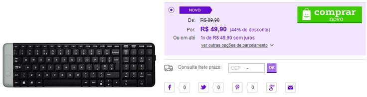 Teclado Wireless Logitech K230 << R$ 4990 >>