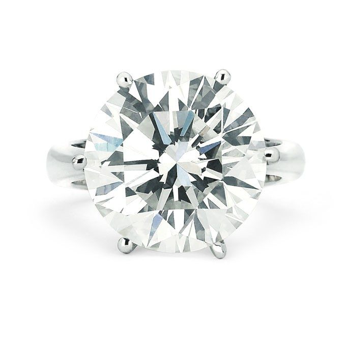 Brilliant-cut 10.29 carat diamond engagement ring, price upon request, Julius Klein for Forevermark See more round-cut engagement rings.