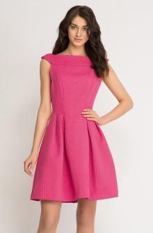 Žakarové šaty se sukní do zvonu