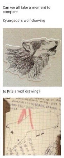 We all know the real artist is Kris...<< Kris's Art skills were so wasted on SM so glad he's now Krisaso