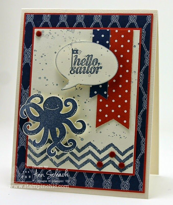The Stampin' Schach: Hello, Sailor! Meet Sea Street and Work of Art