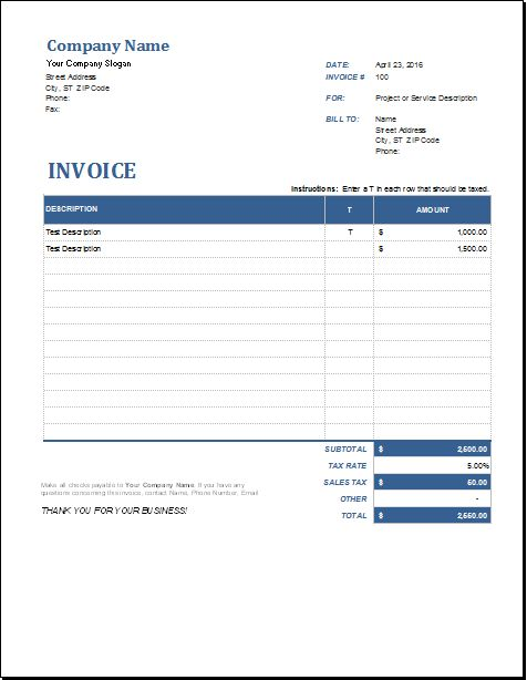 39 best Microsoft Excel Invoices images on Pinterest Invoice - make an invoice in excel