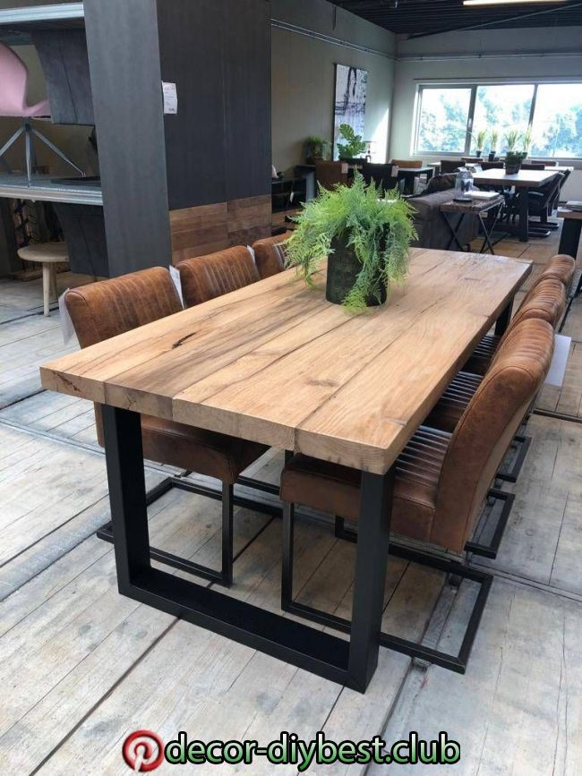 Oud Massief Eiken Tafel In 2020 Rustic Dining Room Table Dining