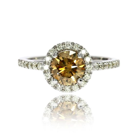 Brown Diamond Engagement Ring Brown Diamond by DiamondsCollection