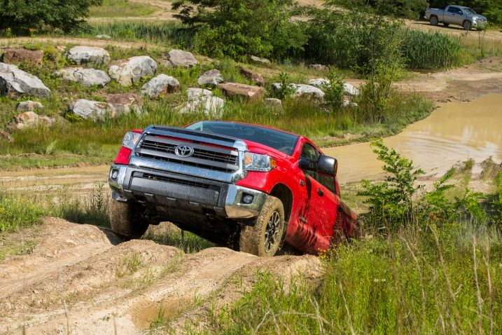 The 2014 Tundra's new modular three-piece bumper looks great, and each segment can be replaced separately should you bend something.