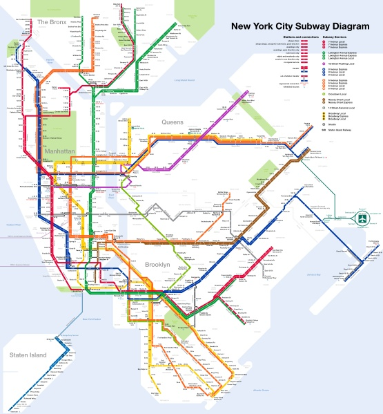 New York Subway Schematic Map