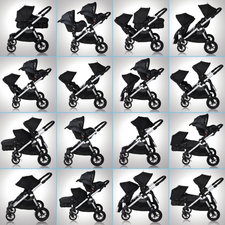 Baby Jogger's City Select Single in Onyx at $499.99. The City Select offers parents the unique opportunity to customize their stroller into 16 different combinations to suit their family needs.