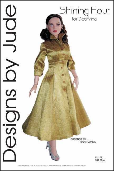 Shining Hour Dress Pattern for DeeAnna Denton Tonner #DesignsbyJude