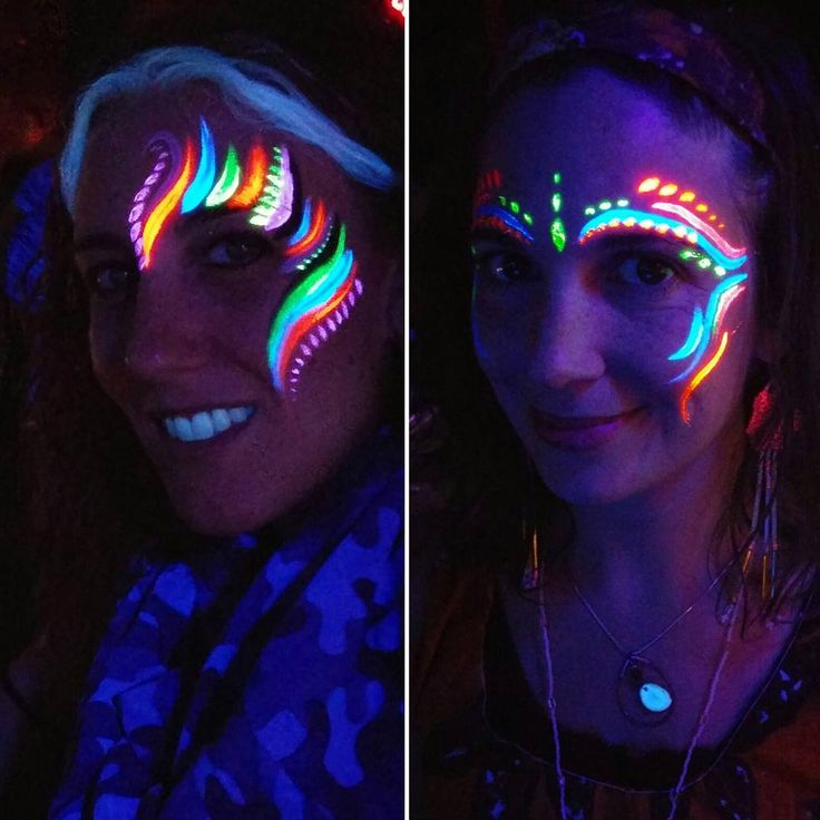 17 Best Ideas About Glow Face Paint On Pinterest | Neon Face Paint Black Light Makeup And Glow
