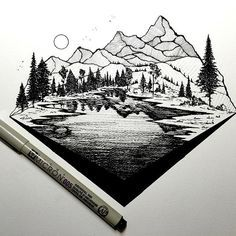 Derek Myers - That mountain texture is REALLY good for what I'm looking for in a mountain tattoo