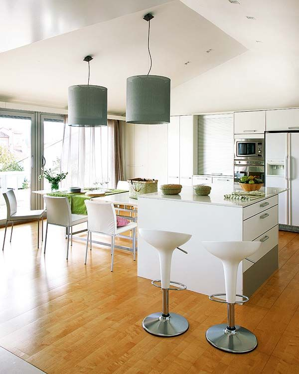 Home: Modern Interiors Design, Kitchens Spaces, Kitchens Design, Design Homes, Living Rooms, Modern Gardens Design, Design Kitchens, Modern Kitchens, White Kitchens