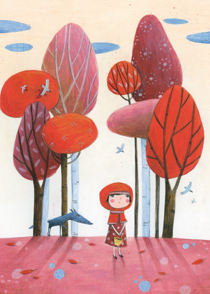 Pinzellades al món: Caputxeta Roja il·lustrada / Caperucita Roja ilustrada / Little Red Riding Hood illustrated / Le Petit Chaperon Roug illustré (13)