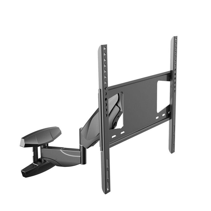 Interactive Full Motion TV Wall Mount Articulating Arm Up and Down Move Tilt Swivel TV Bracket for 32 in. - 50 in. TVs, Black