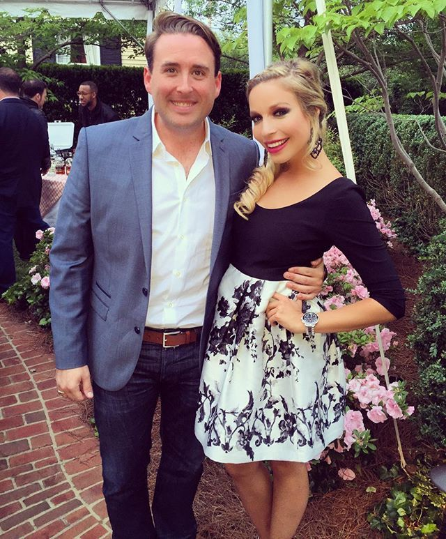 Miss America 2015 Kira Kazantsev shows off for Derby in her floral Adrianna Papell Dress.