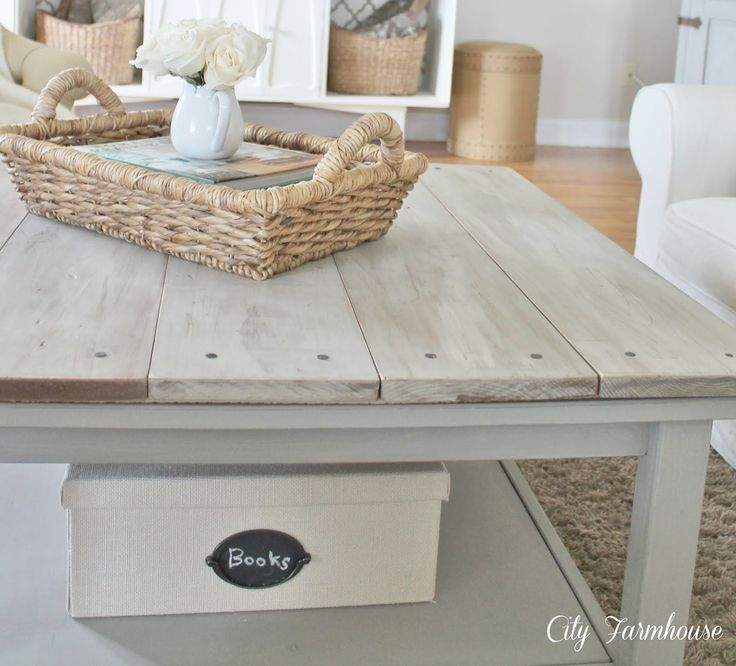 IKEA Hackers: Hemnes Beautified Barnboard Coffee Table..can do this for dining table also!
