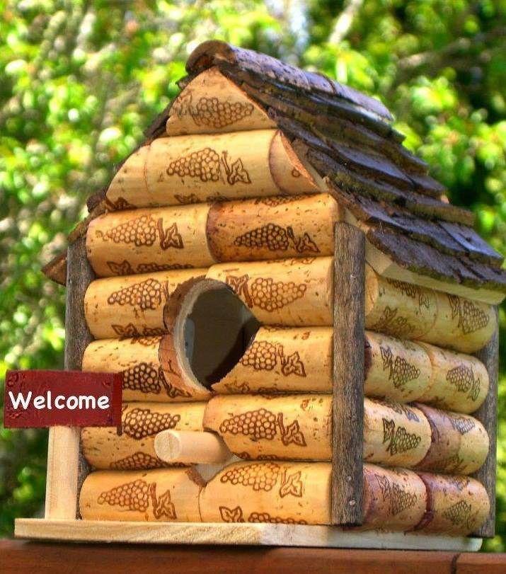 nichoir et mangeoire oiseaux en bouchons de liège