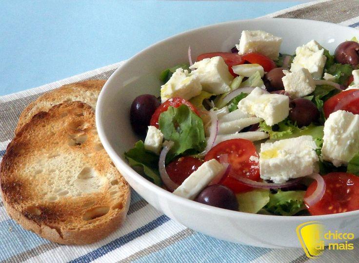 Insalata greca ricetta light il chicco di mais